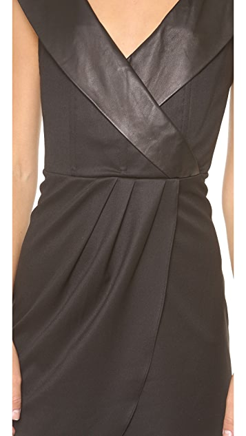 alice + olivia Shayna Shawl Collar Dress