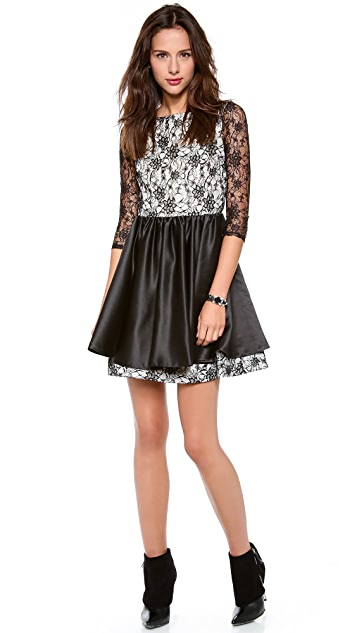 alice + olivia Katelyn Lace Dress