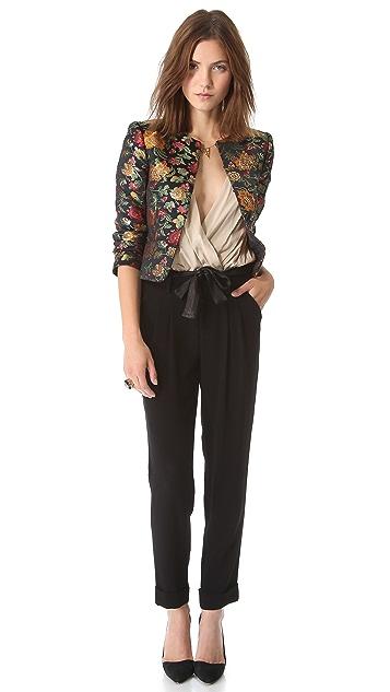 alice + olivia Rochelle Short Floral Blazer