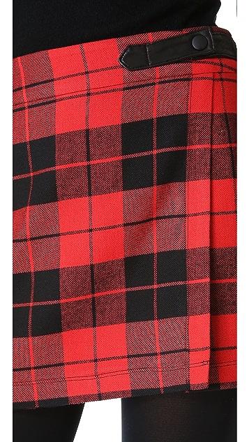 alice + olivia Weston Plaid Skirt