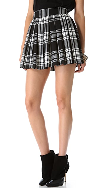 alice + olivia Fizer Box Pleat Skirt