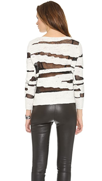 alice + olivia Sparrow Sheer Pullover