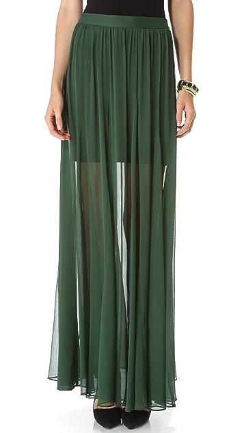 alice + olivia Adme Godet Maxi Skirt