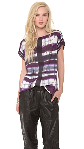 alice + olivia Neptune Roll Sleeve Boxy Top