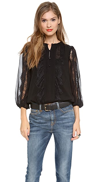 alice + olivia Cass Peasant Sleeve Top