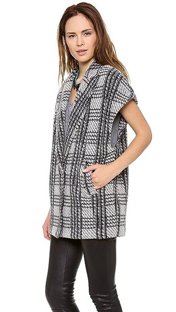 alice + olivia Zaide Oversize Vest