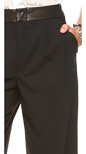 alice + olivia Double Pleat Pants with High Waist