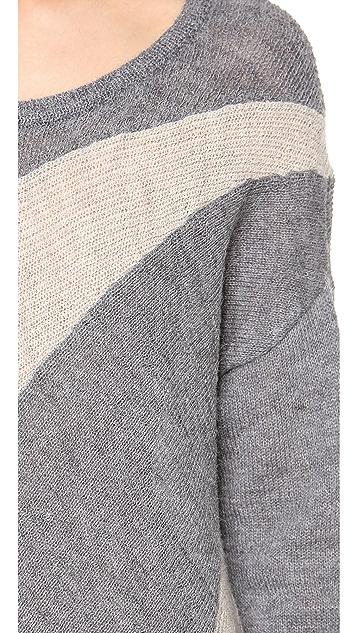 alice + olivia Celeste Sunburst Colorblock Sweater