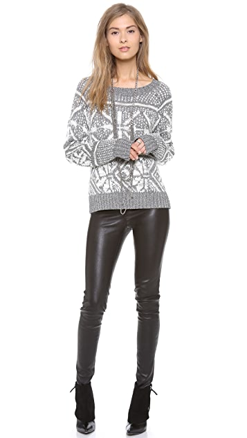 alice + olivia Lucille Snowflake Sweater