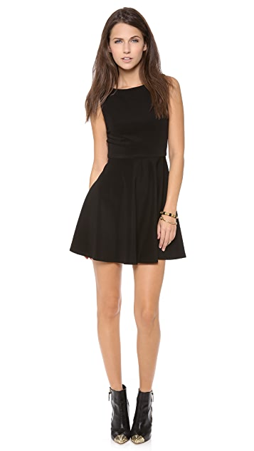 alice + olivia Monah Sleeveless A Line Dress