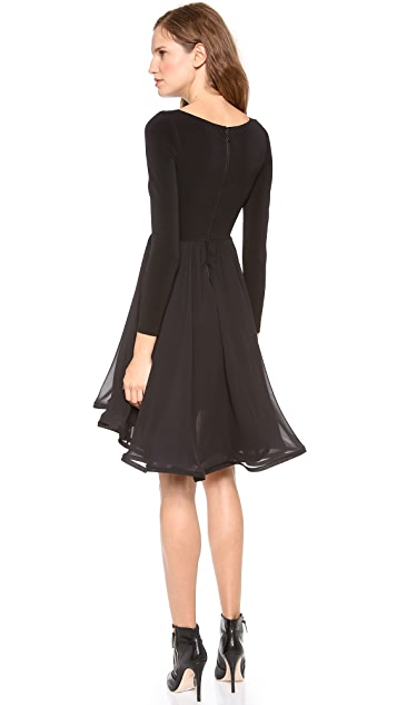 alice + olivia Jaye Long Sleeve Babydoll Dress