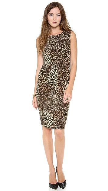 alice + olivia Gina Sleeveless Fitted Dress
