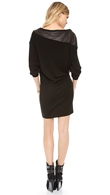 alice + olivia Hayden Scrunched Sleeve Dress