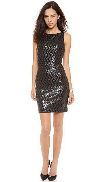 alice + olivia Aviana Sequin Fitted Dress