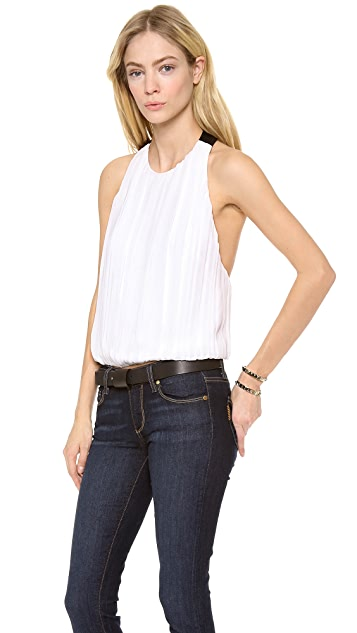 alice + olivia Emory T Back Gathered Tank
