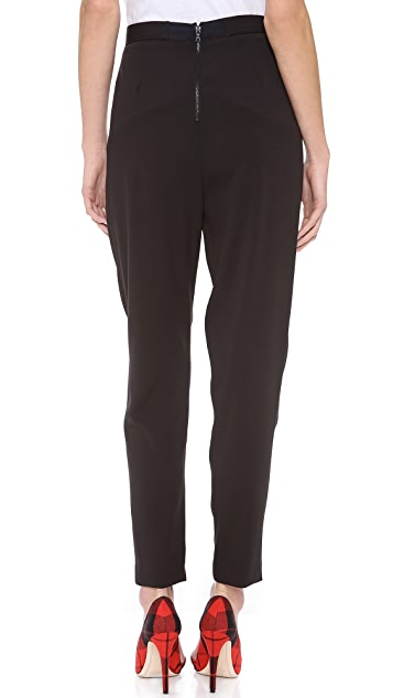 alice + olivia Back Zip Pleated Pants