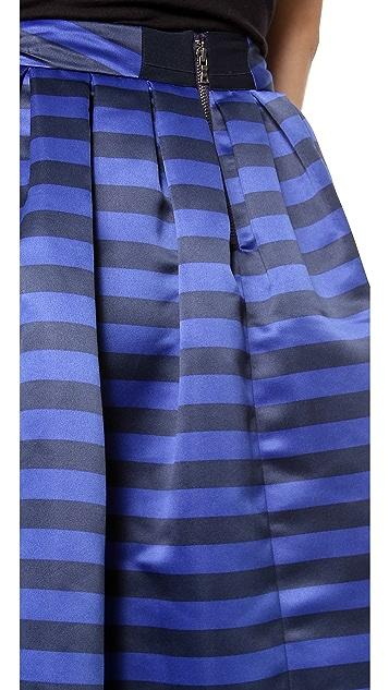 alice + olivia Stapen Box Pleat Skirt