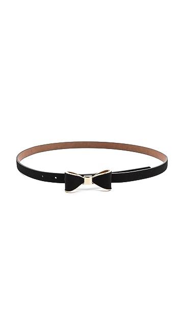 alice + olivia Bow Skinny Belt