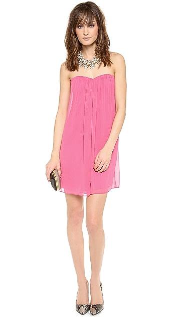 alice + olivia Jazz Center Drape Strapless Dress