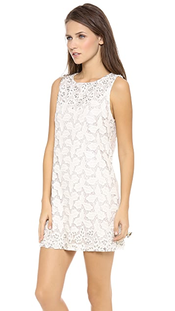 alice + olivia Dot Embellished Shift Dress