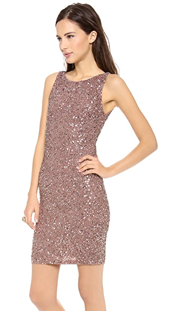 alice + olivia Kimber Embelilshed Fitted Dress