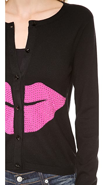 alice + olivia Lips Cardigan
