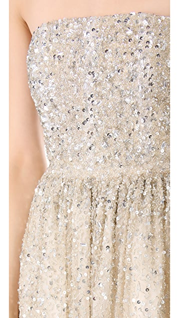 alice + olivia Milly Strapless Ball Gown