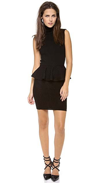 alice + olivia Kandi Peplum Dress