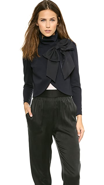 Alice Olivia Addison Bow Crop Jacket Shopbop
