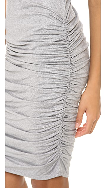 alice + olivia Cathy Sleeveless Side Ruch Dress