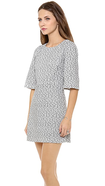 alice + olivia Hanah Puff Shoulder Dress