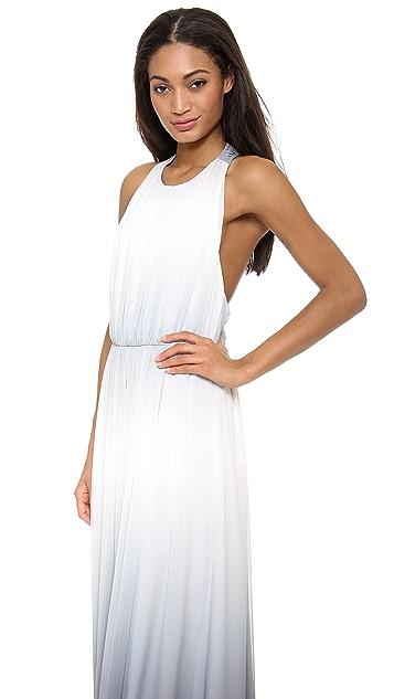 alice + olivia Jinny Gathered Sleeveless Maxi Dress