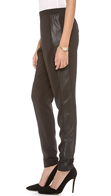 alice + olivia Leather Trimmed Pants