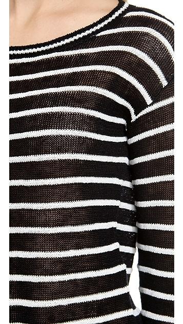 alice + olivia Ottoman Pinstripe Boxy Sweater