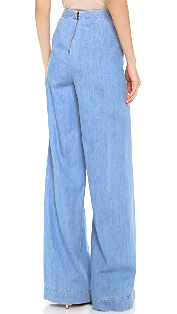 alice + olivia High Waisted Wide Leg Pants