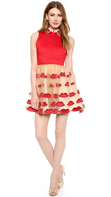 alice + olivia Pout Collared Dress