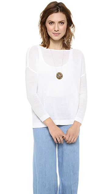alice + olivia Boxy Boat Neck Sweater