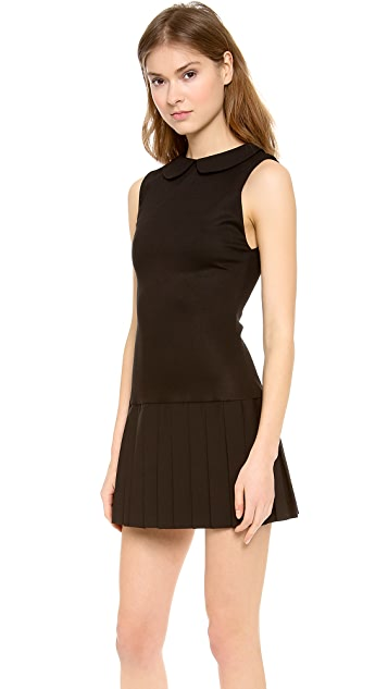 alice + olivia Erica Sleeveless Pleat Dress