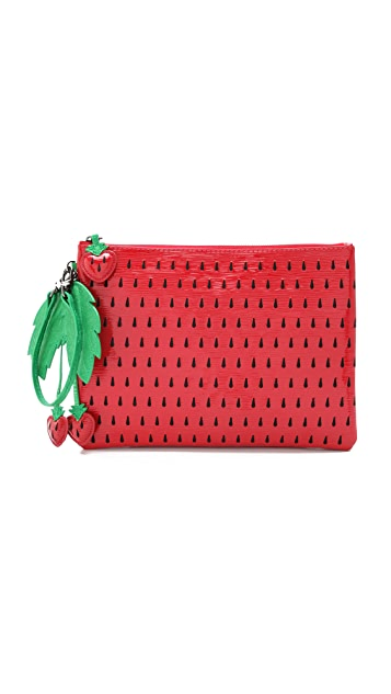 alice + olivia Strawberry Clutch