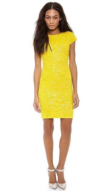 alice + olivia Taryn Sequin Capsleeve Dress