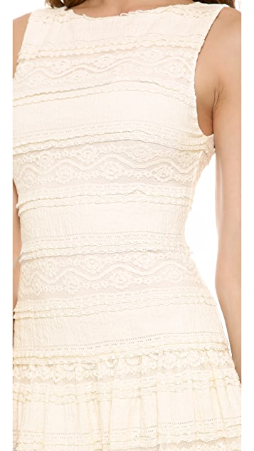 alice + olivia Chap Drop Waist Lace Dress