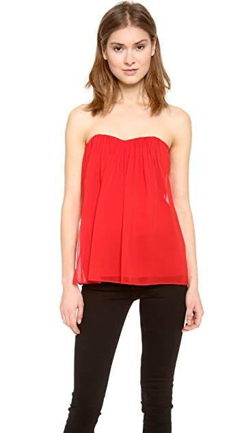 alice + olivia Kenley Strapless Top
