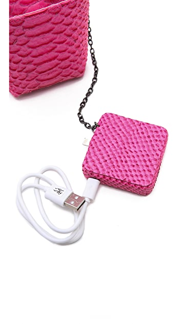 alice + olivia Lizard Phone Pouch with Portable Charger