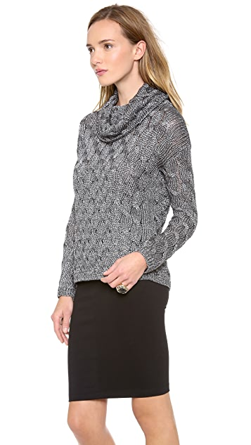 alice + olivia Felicia Chunky Cable Sweater
