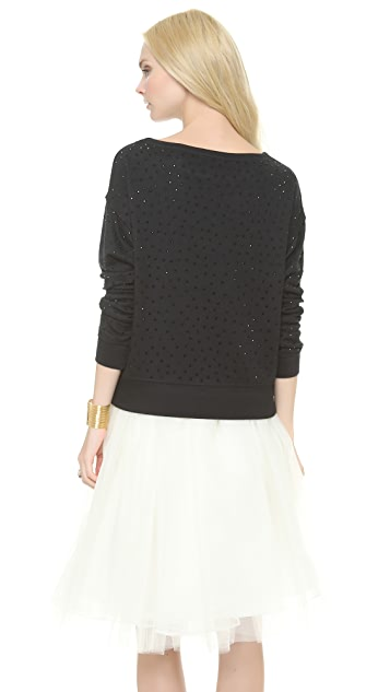 alice + olivia Blouson Studded Sweatshirt