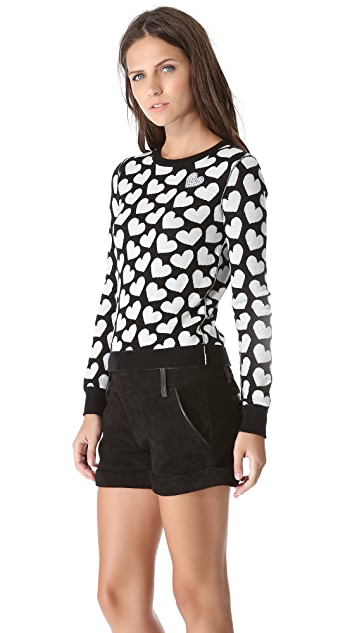 alice + olivia Emmy Sweatheart Sweater