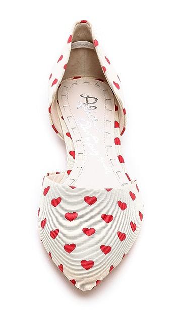 alice + olivia Hilary Heart d'Orsay Flats