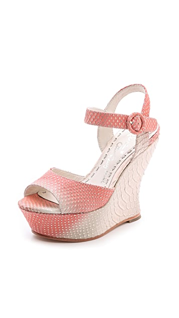 alice + olivia Jana Ombre Wedge Sandals