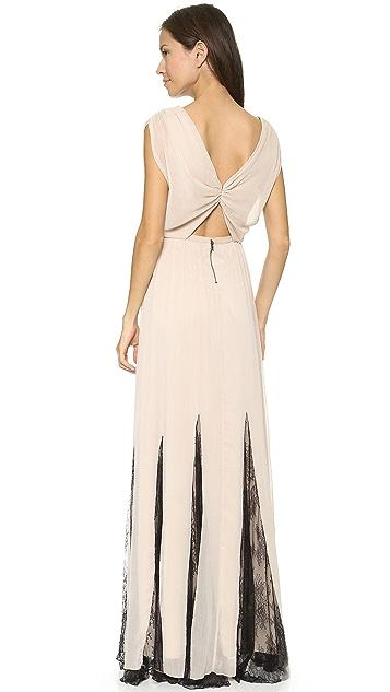 alice + olivia Ginevia Knot Front Maxi Dress