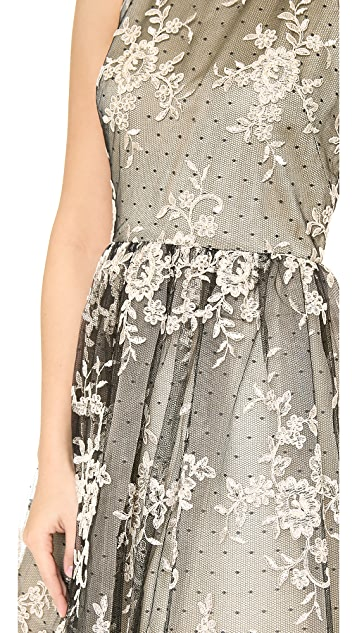 alice + olivia Betrice Halter Party Dress